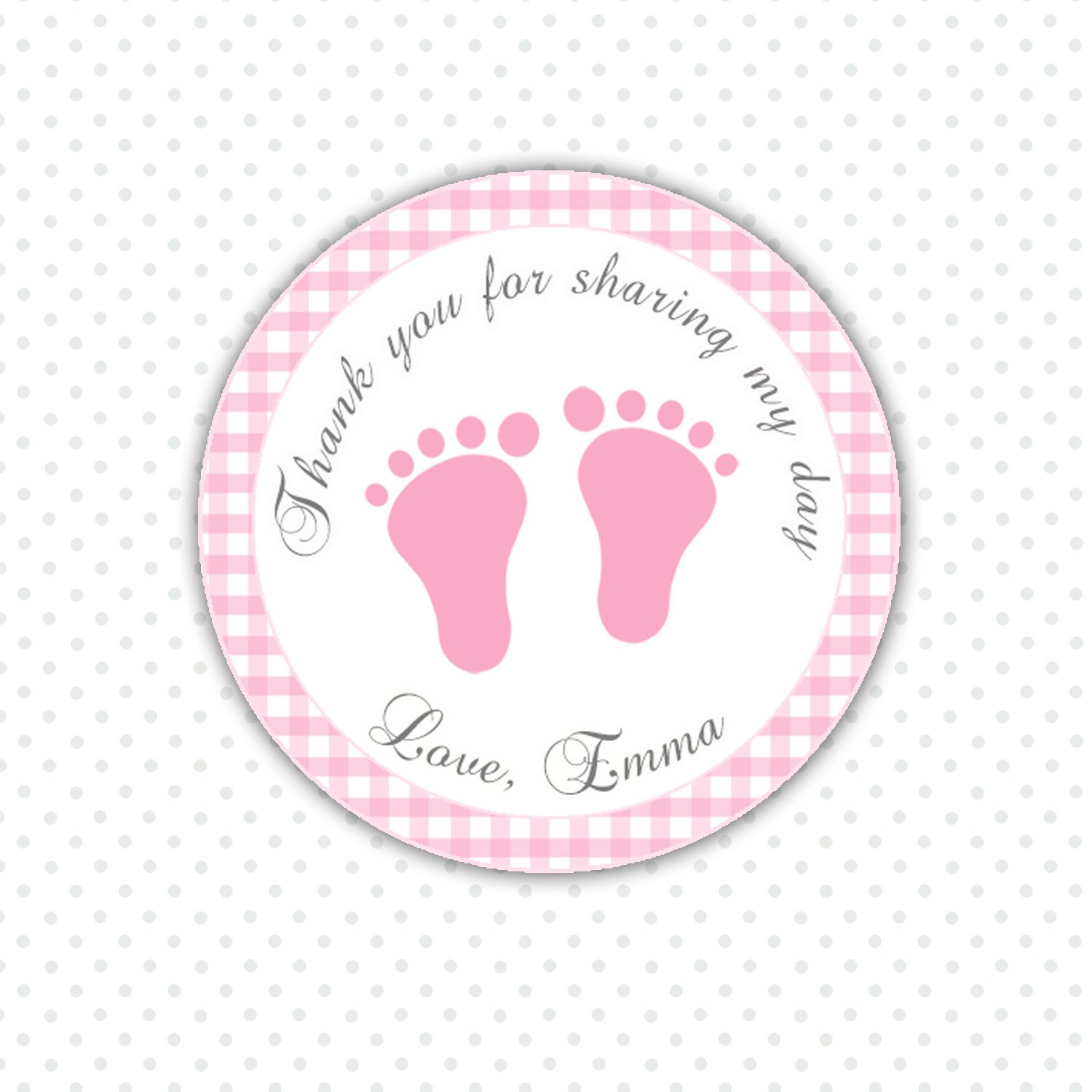 Free Printable Baby Shower Favor Stickers - Baby Shower Ideas - Free Printable Baby Shower Favor Tags Template