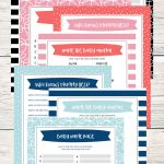Free Printable Baby Shower Games   5 Games (In 3 Colors!) | Lil' Luna   Baby Name Race Free Printable