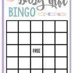 Free Printable Baby Shower Games For Large Groups – Fun Squared   Baby Bingo Free Printable