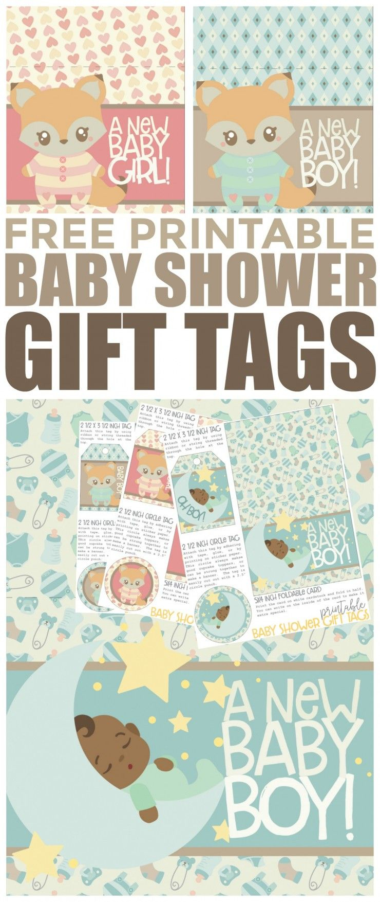 Free Printable Baby Shower Gift Tags   Free Printables   Pinterest - Free Printable Baby Shower Gift Tags