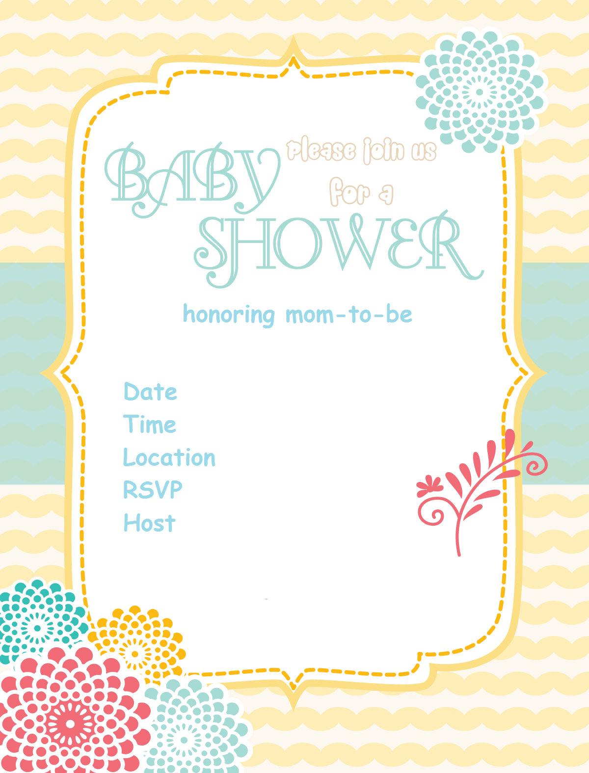 Free Printable Baby Shower Invitations Baby Shower Ideas Plastic - Free Printable Baby Shower Invitations