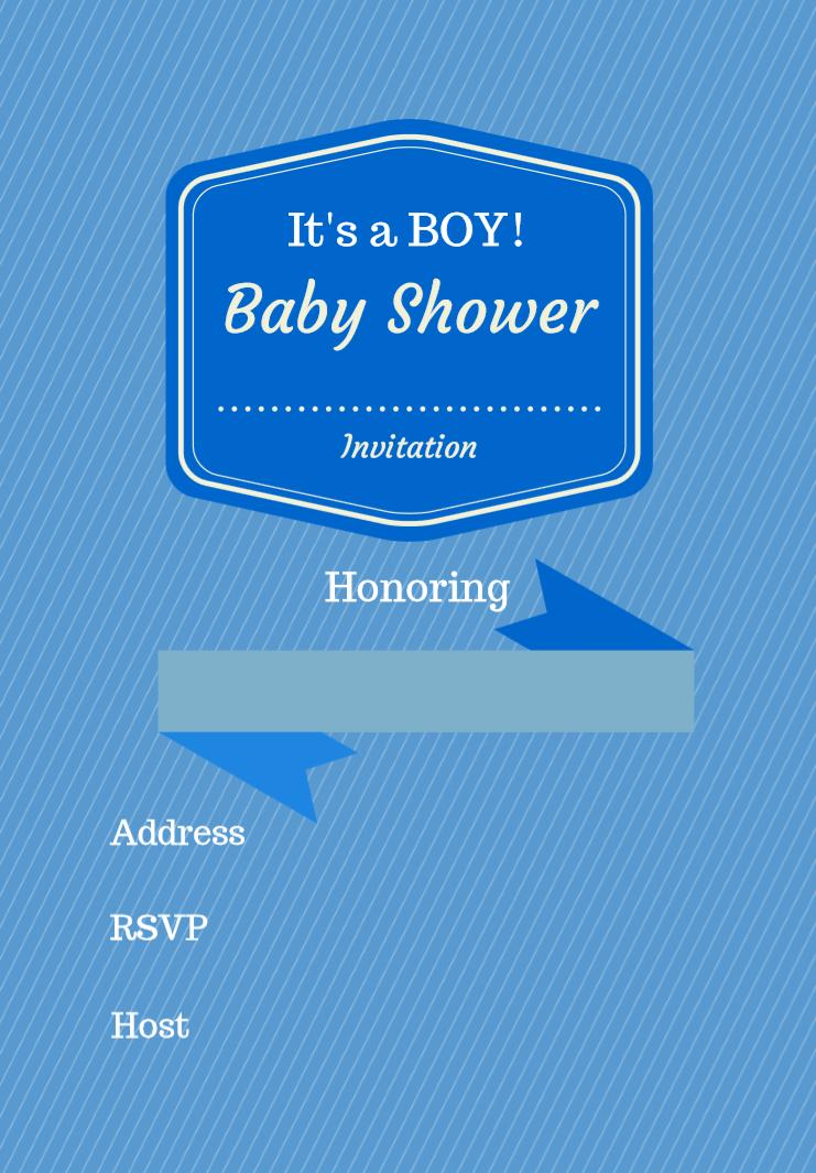 Free Printable Baby Shower Invitations - Baby Shower Ideas - Themes - Free Baby Boy Shower Invitations Printable