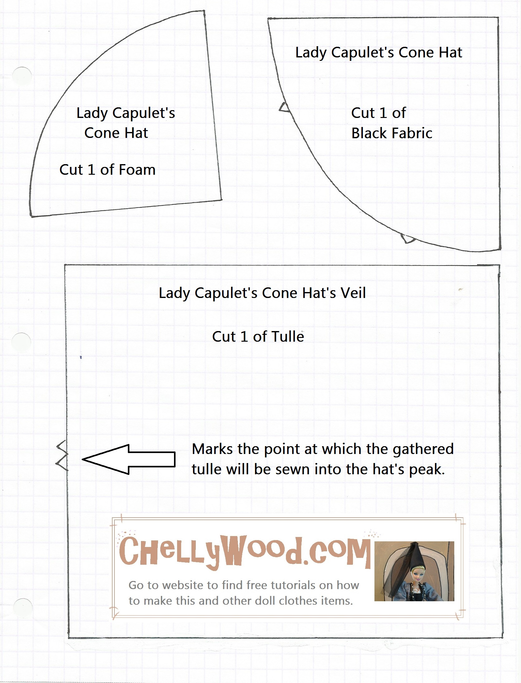 Free Printable Barbie Doll Clothes Patterns – Chellywood - Easy Barbie Clothes Patterns Free Printable