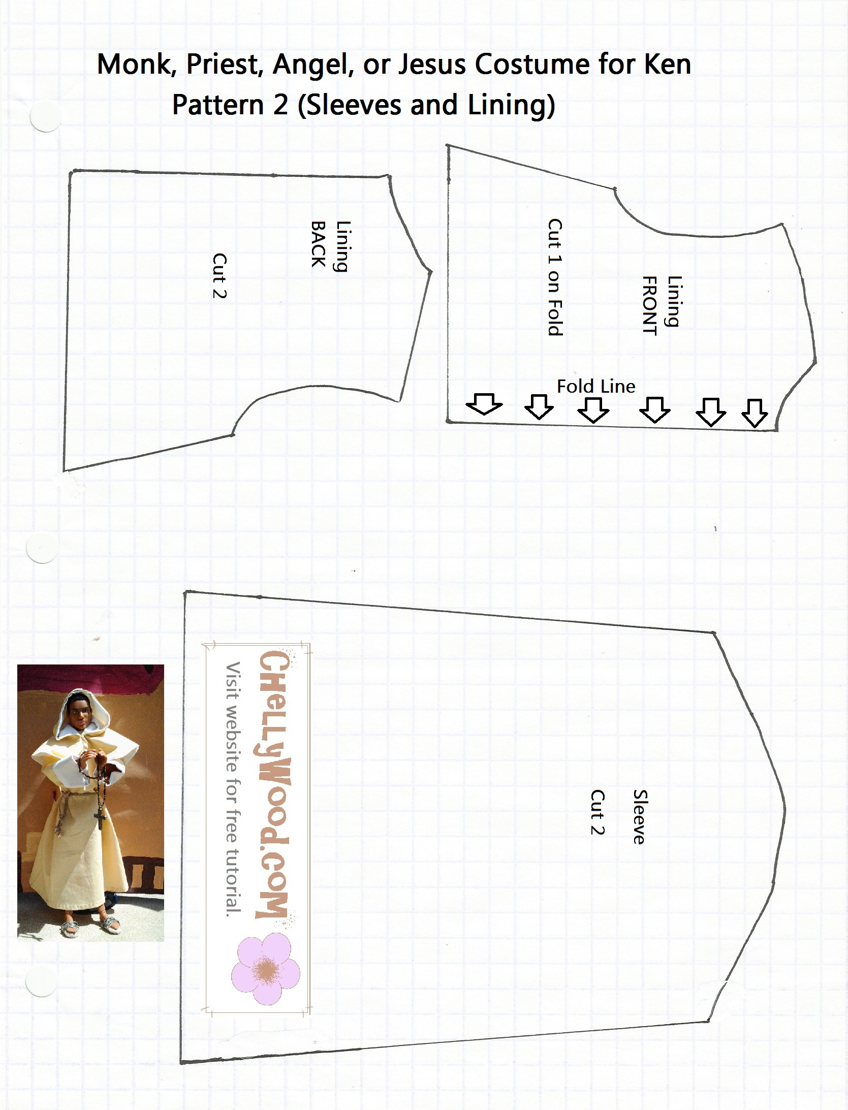 Free Printable Barbie Doll Clothes Patterns – Chellywood - Free Printable Barbie Doll Sewing Patterns Template