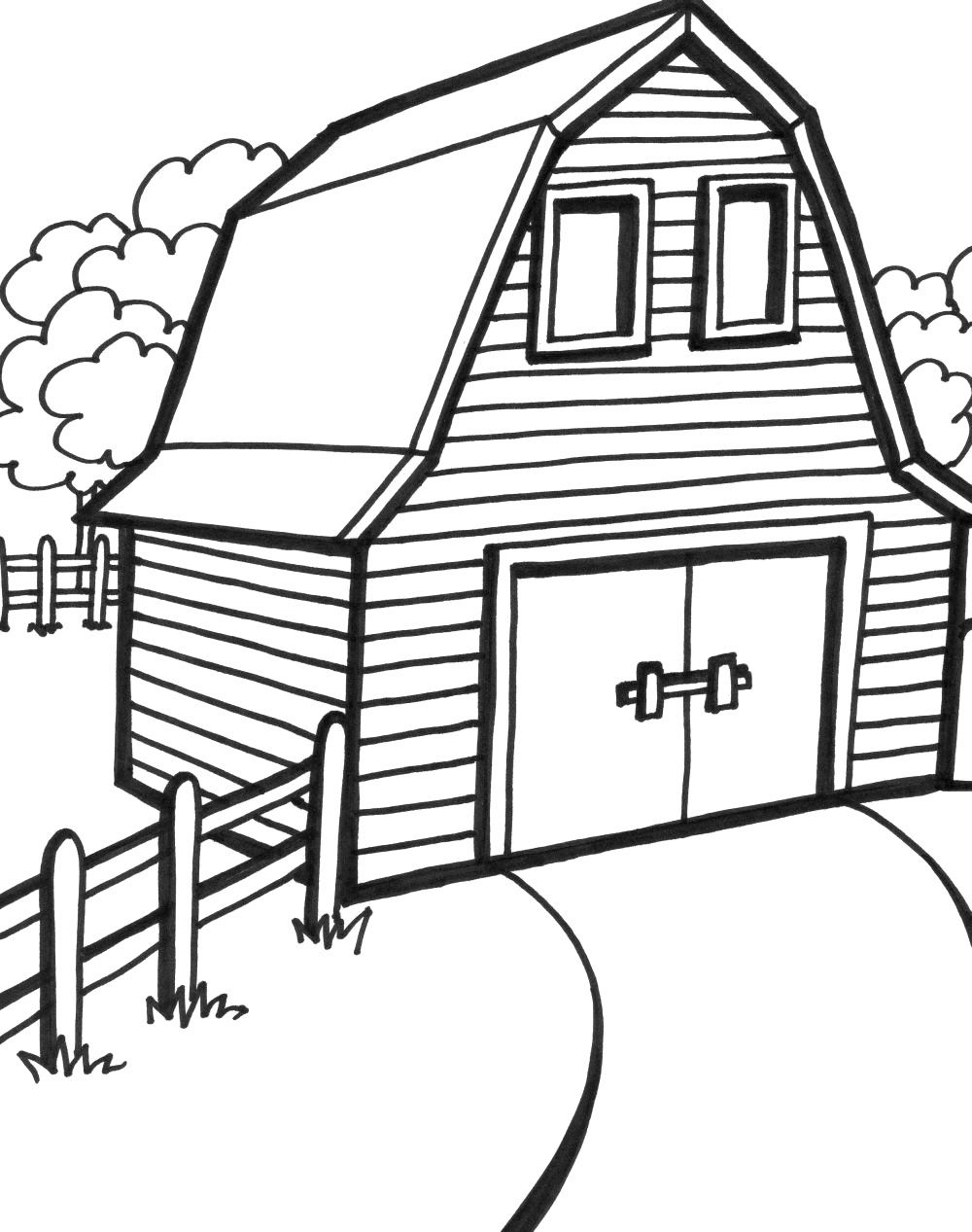 Free Printable Barn Coloring Pages - High Quality Coloring Pages - Free Printable Barn Coloring Pages