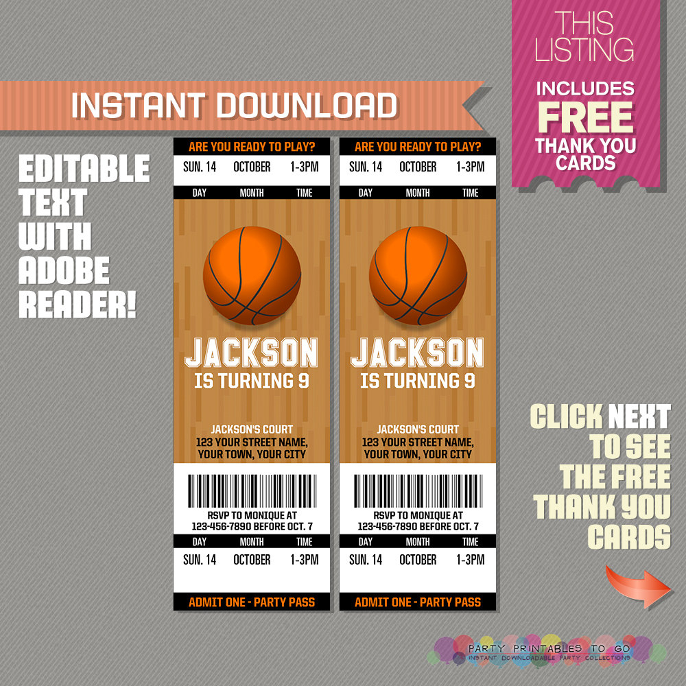 Free Printable Basketball Party Invitations Print Baby Shower - Basketball Invites Free Printable