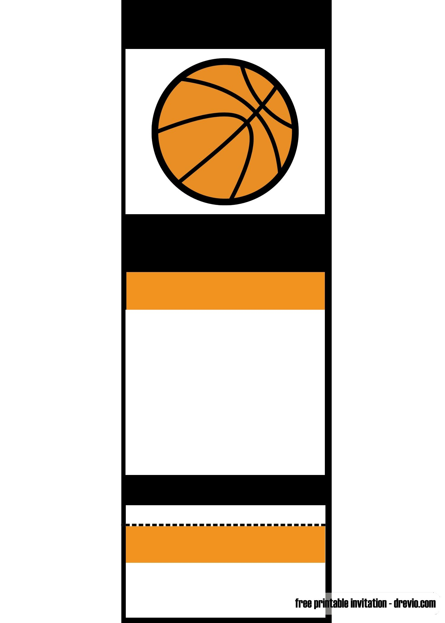 Free Printable Basketball Ticket Invitation | Unc Vs Gonzaga - Free Printable Basketball Cards