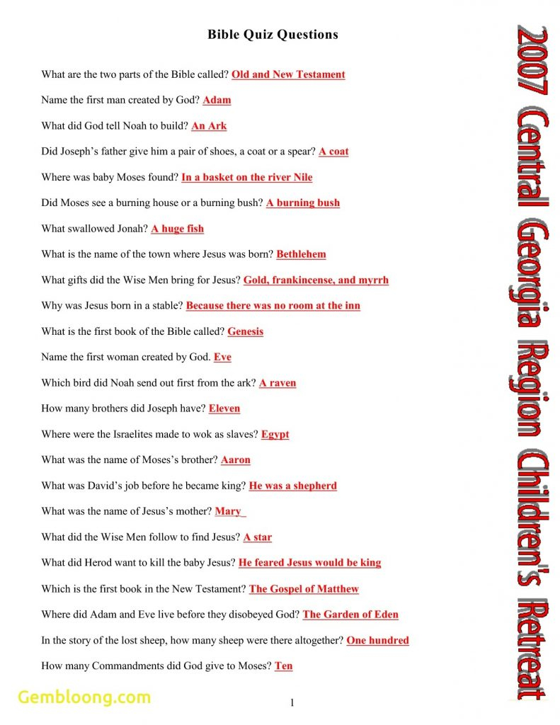 Free Printable Bible Trivia Questions And Answers | Free Printable - Free Printable Bible Trivia For Adults