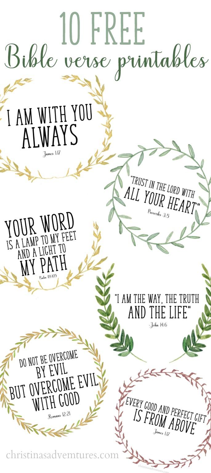 Free Printable Bible Verses - Christinas Adventures - Free Printable Inspirational Bible Verses