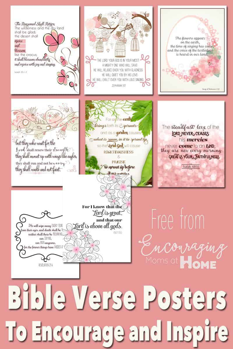 Free Printable Bible Verses To Encourage And Inspire Homeschool Moms - Free Printable Inspirational Bible Verses