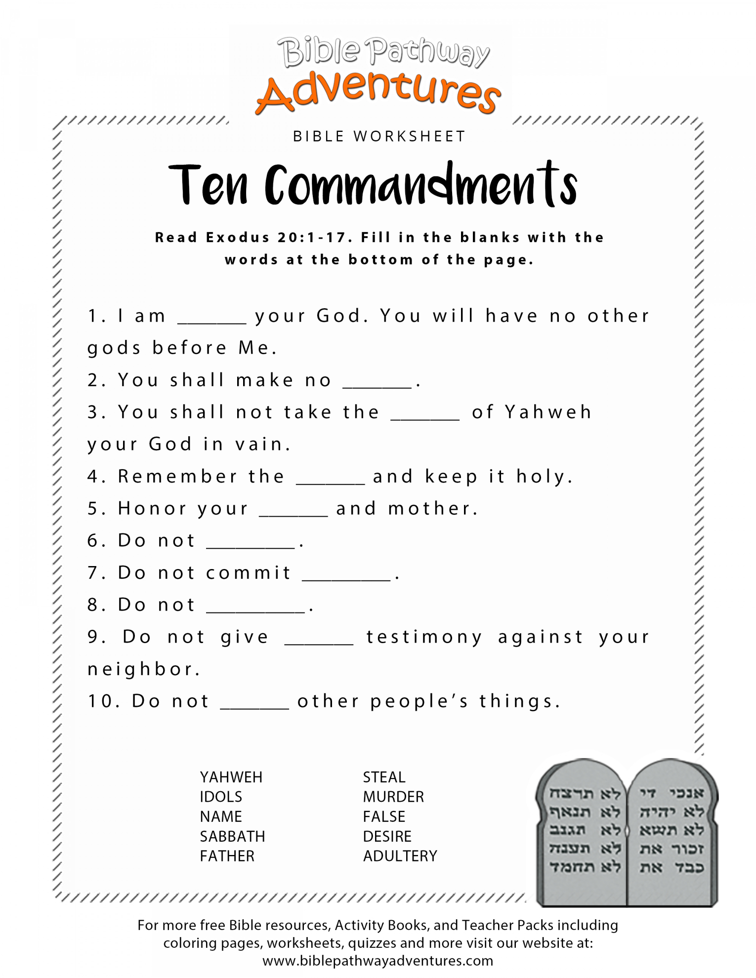 Free Printable Bible Worksheets For Youth ~ Papersnake.ca - Free Printable Bible Lessons For Youth