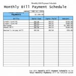 Free Printable Bill Payment Schedule Blank Paying Chart 2018   Free Printable Bill Payment Schedule