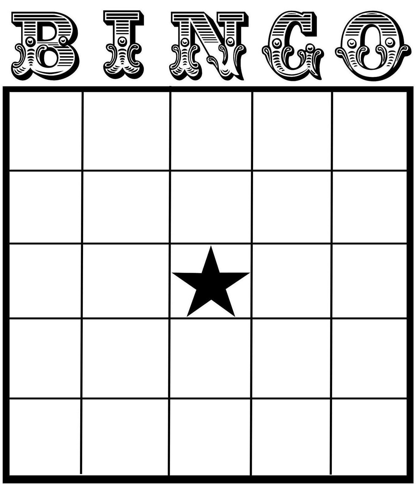 Free Printable Bingo Card Template - Set Your Plan & Tasks With Best - Free Printable Bingo Cards With Numbers