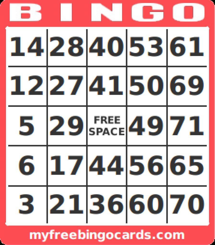 Free Printable Bingo Cards 1 75 | Free Printable - Free Printable Bingo Cards 1 75