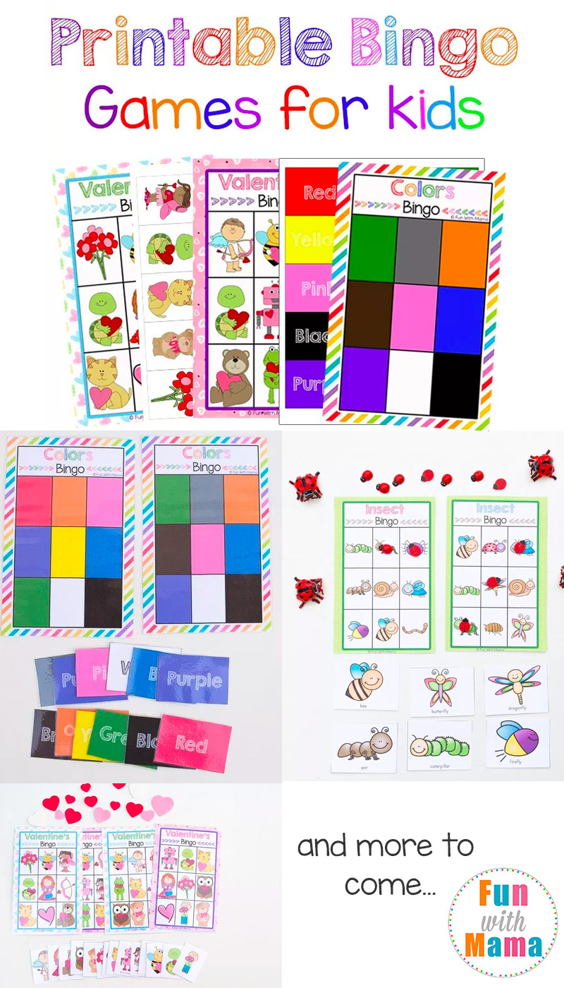 Free Printable Bingo Cards For Kids - Fun With Mama - Free Printable Bingo Chips