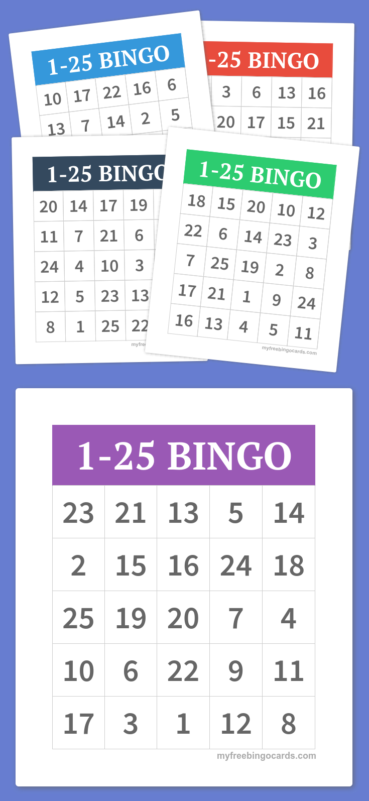 Free Printable Bingo Cards | Teacher, Teacher! | Bingo Cards, Free - Free Printable Number Bingo Cards 1 20