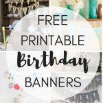 Free Printable Birthday Banners   The Girl Creative   Free Happy Birthday Printable Letters