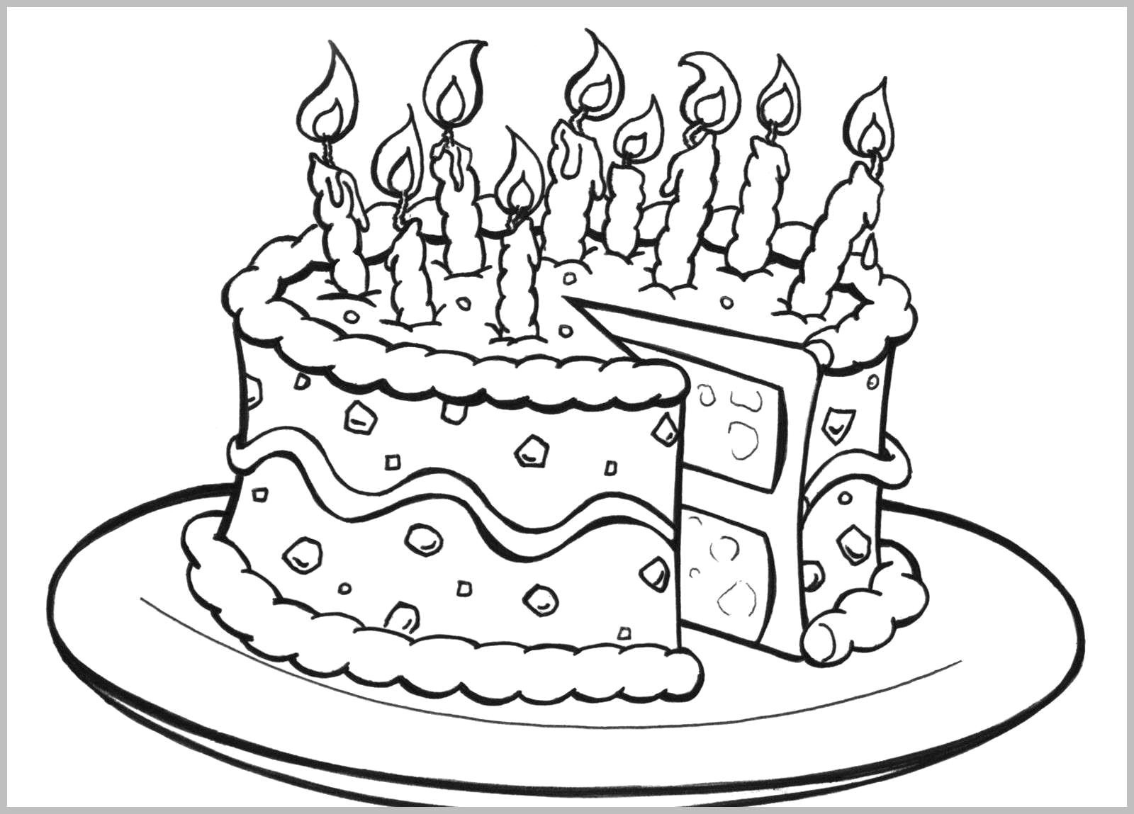 Free Printable Birthday Cake Coloring Pages For Kids Cool2Bkids - Free Printable Birthday Cake