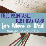 Free Printable Birthday Cards To Color | Dad Card | Pinterest | Free   Free Printable Happy Birthday Cards For Dad