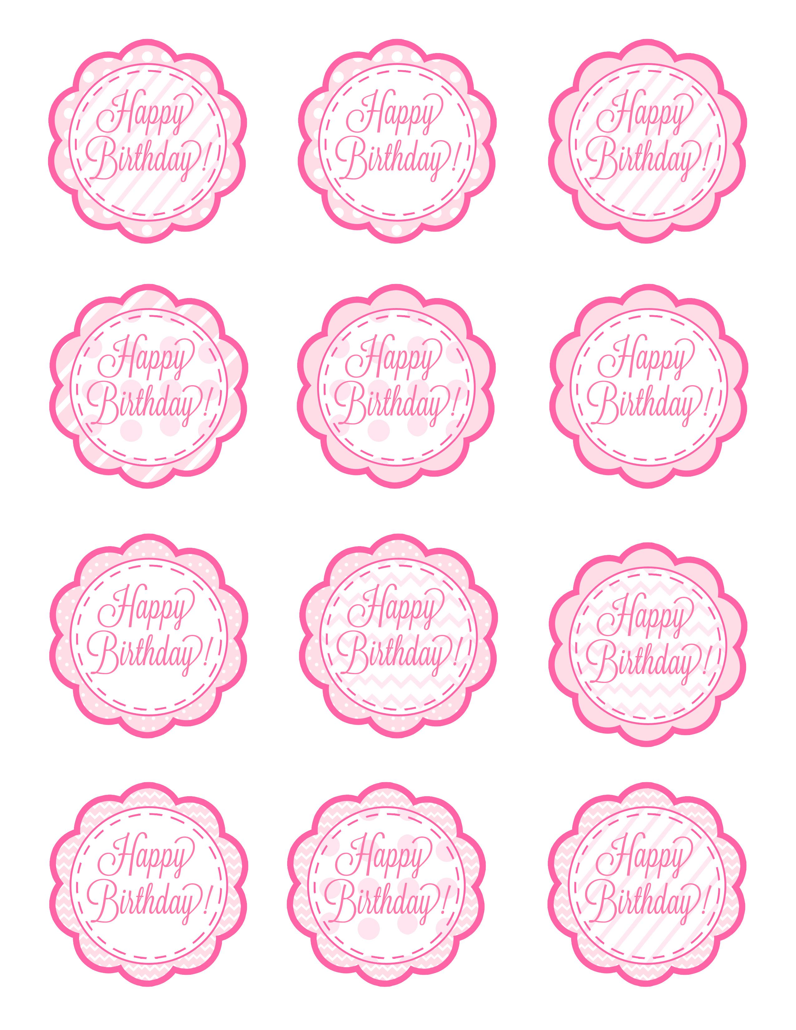 Free Printable Birthday Cupcake Picks - 15.4.kaartenstemp.nl • - Cupcake Topper Templates Free Printable