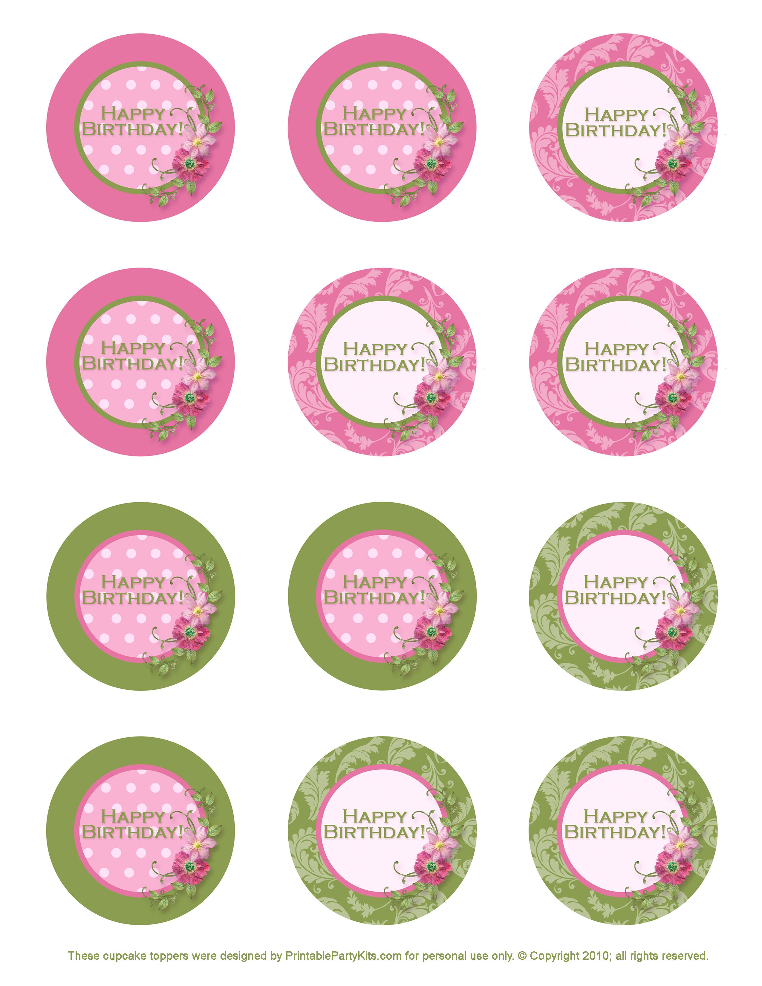 Free Printable Birthday Cupcake Toppers | Crafts | Pinterest - Free Printable Barbie Cupcake Toppers