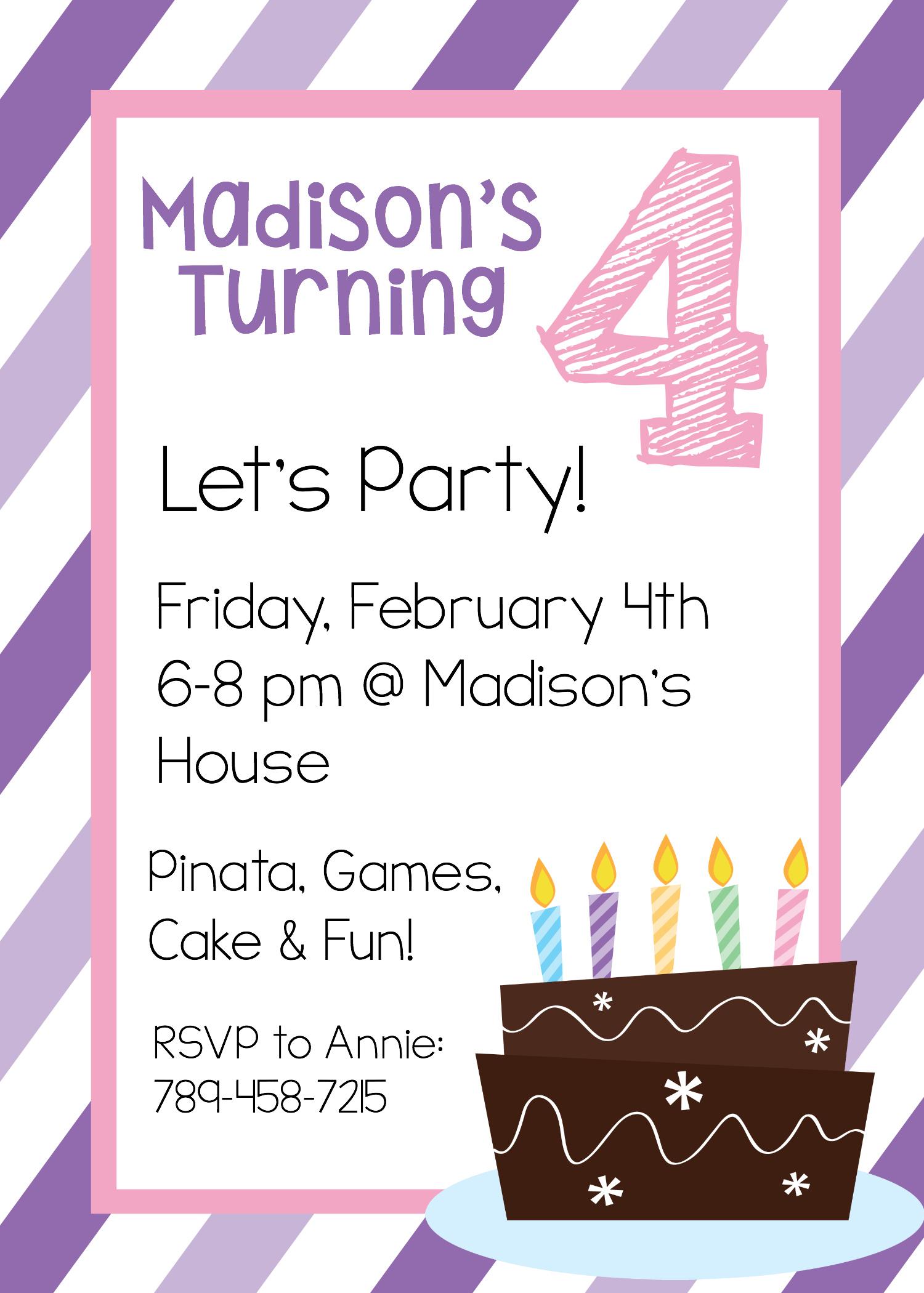 Free Printable Birthday Invitation Templates - Free Printable Birthday Invitations With Pictures