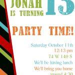 Free Printable Birthday Invitation Templates   Free Printable Personalized Birthday Invitation Cards
