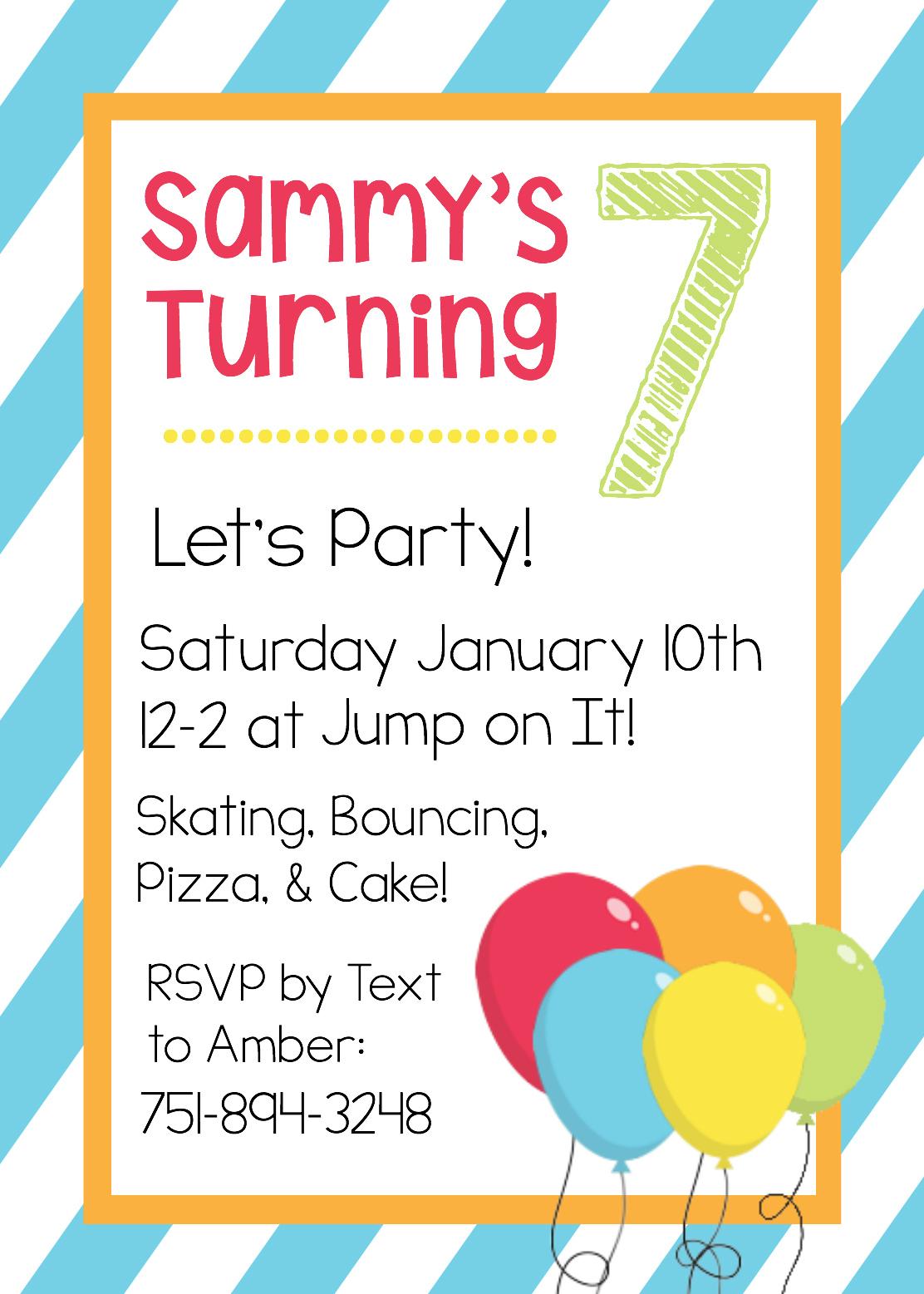 Free Printable Birthday Invitation Templates - Make Your Own Birthday Party Invitations Free Printable