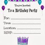 Free Printable Birthday Invitations For Kids #freeprintables   Free Printable Toddler Birthday Invitations
