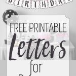 Free Printable Black And White Banner Letters | Diy Banners   Free Happy Birthday Printable Letters