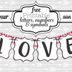 Free Printable Black And White Banner Letters | Diy Swank   Free Happy Birthday Printable Letters