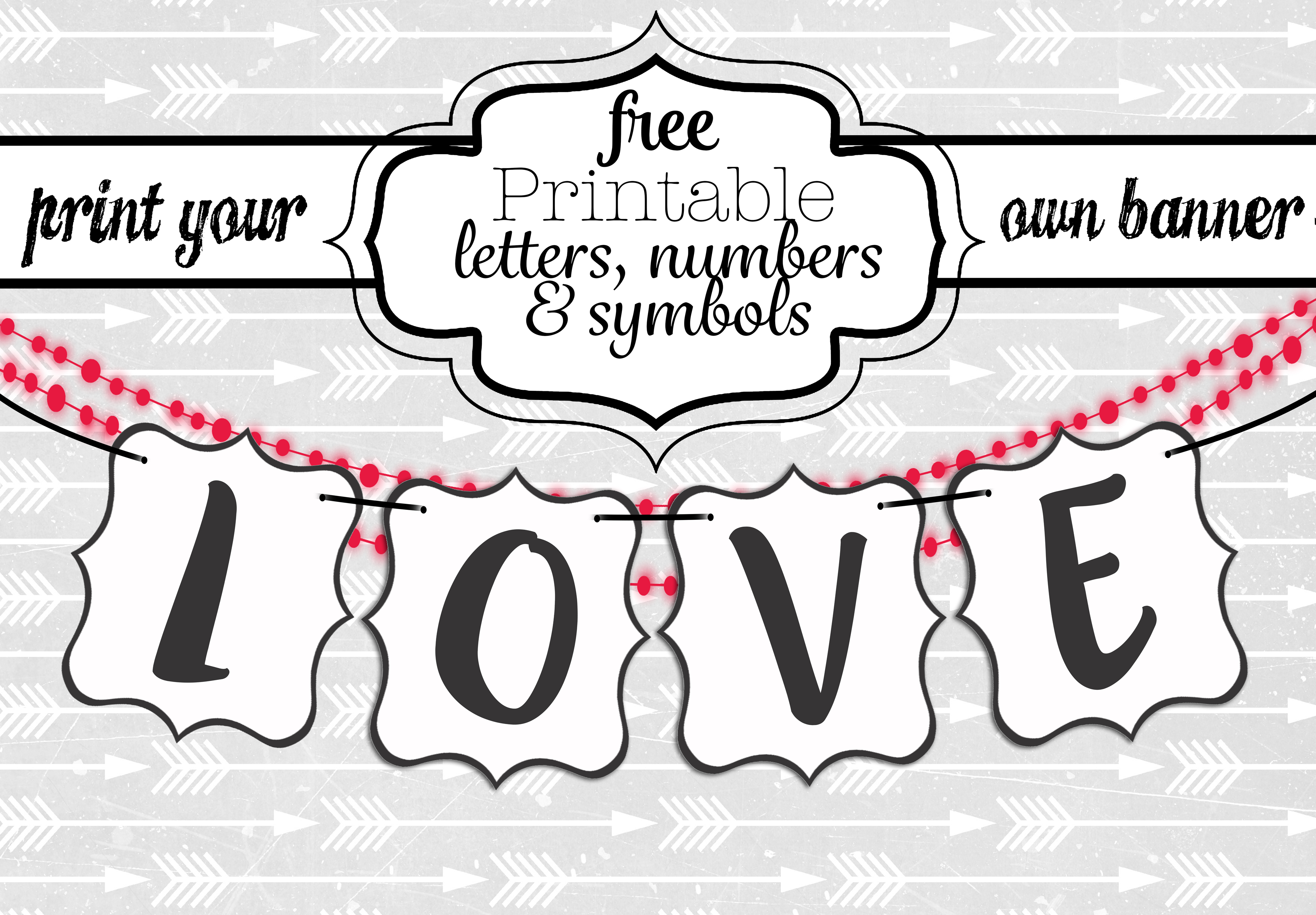 Free Printable Black And White Banner Letters   Diy Swank - Free Printable Wedding Banner Letters