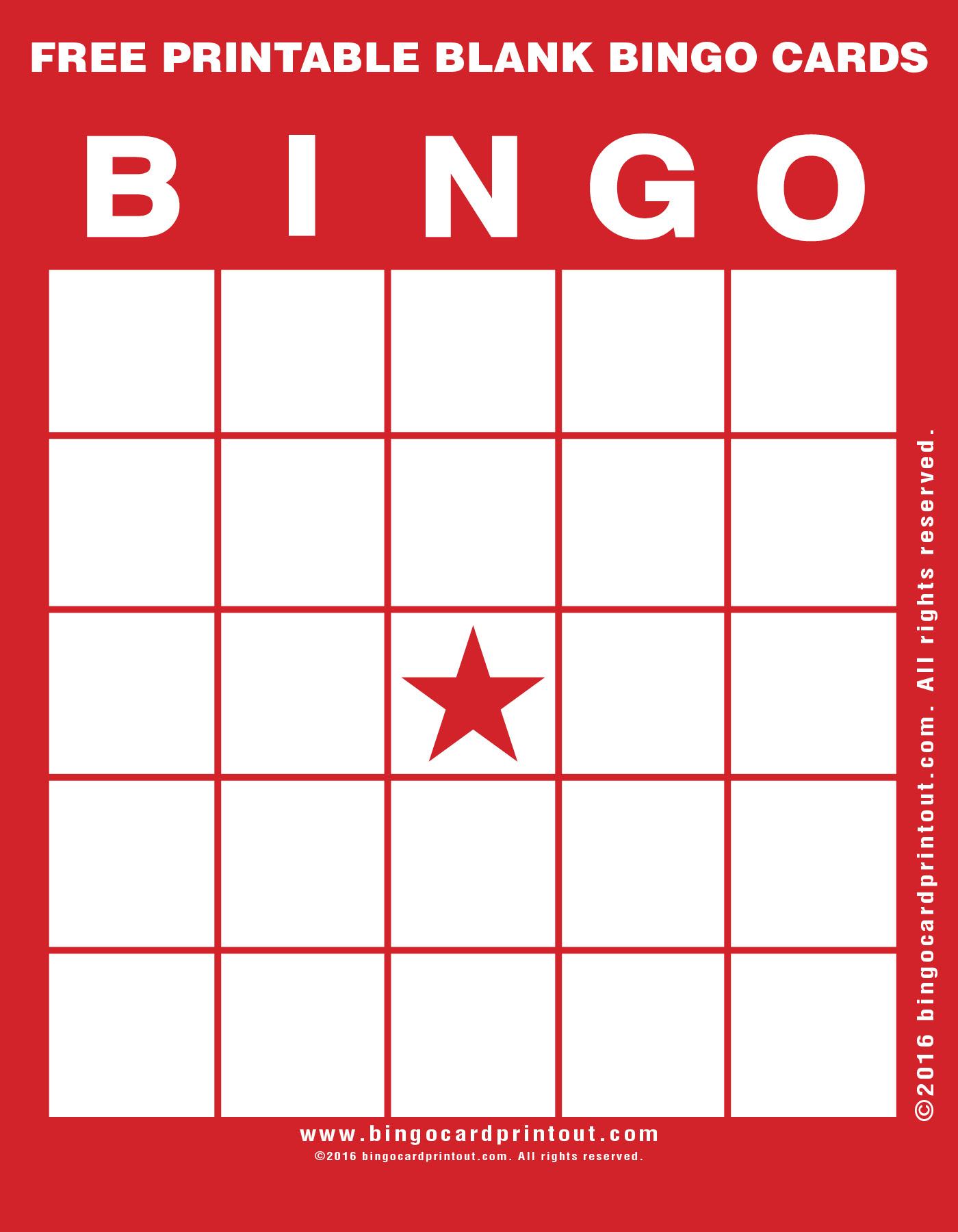 Free Printable Blank Bingo Cards - Bingocardprintout - Free Printable Blank Bingo Cards