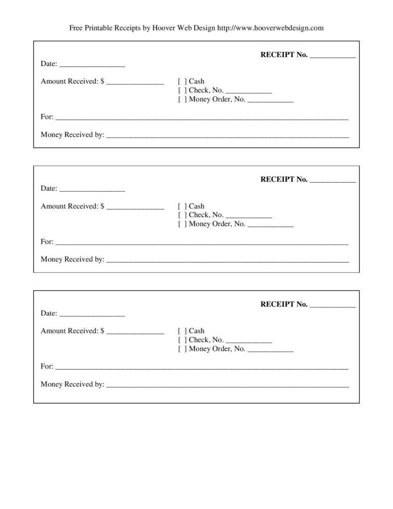 Free-Printable-Blank-Receipt-Form-Template-Page-001   Template's For - Free Printable Blank Receipt Form