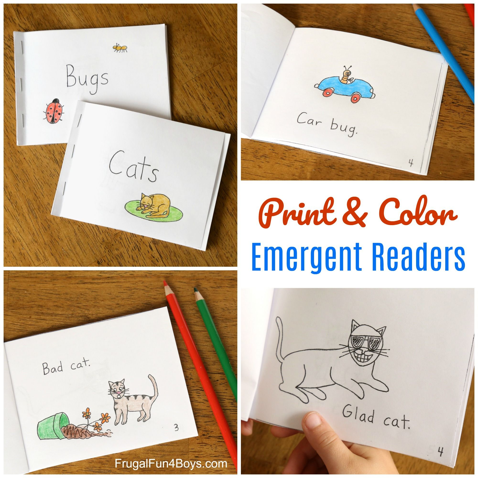 Free Printable Books For Beginning Readers - Level 1 (Easy | Free - Free Printable Books For Beginning Readers