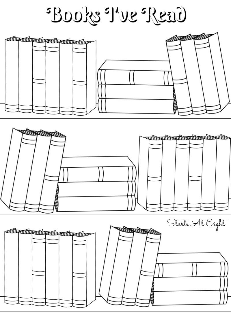 Free Printable Books I've Read Log From Starts At Eight. Free - Free Printable Books