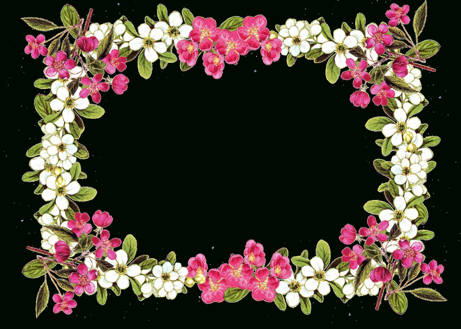 Free Printable Borders Digital Flower Frame Png Free Image - Free Printable Borders