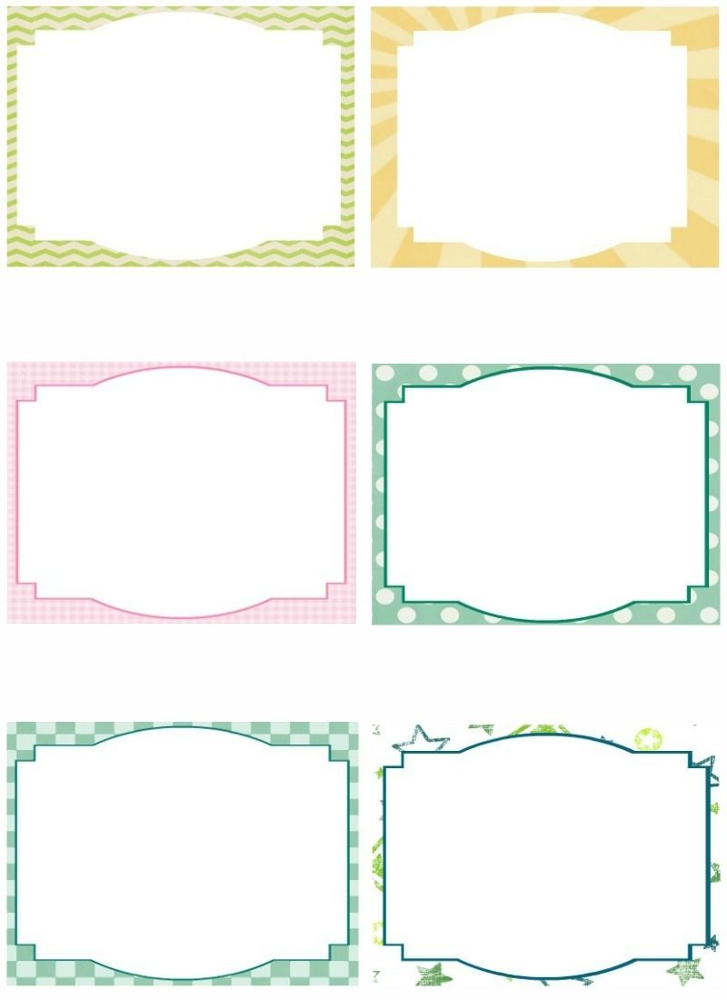 Free Printable Borders With Praying Kids - Yahoo Image Search - Free Printable Index Cards