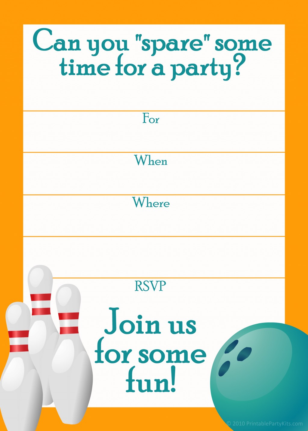 Free Printable Bowling Party Invitation Templates Image Group (50+) - Free Printable Bowling Invitation Templates