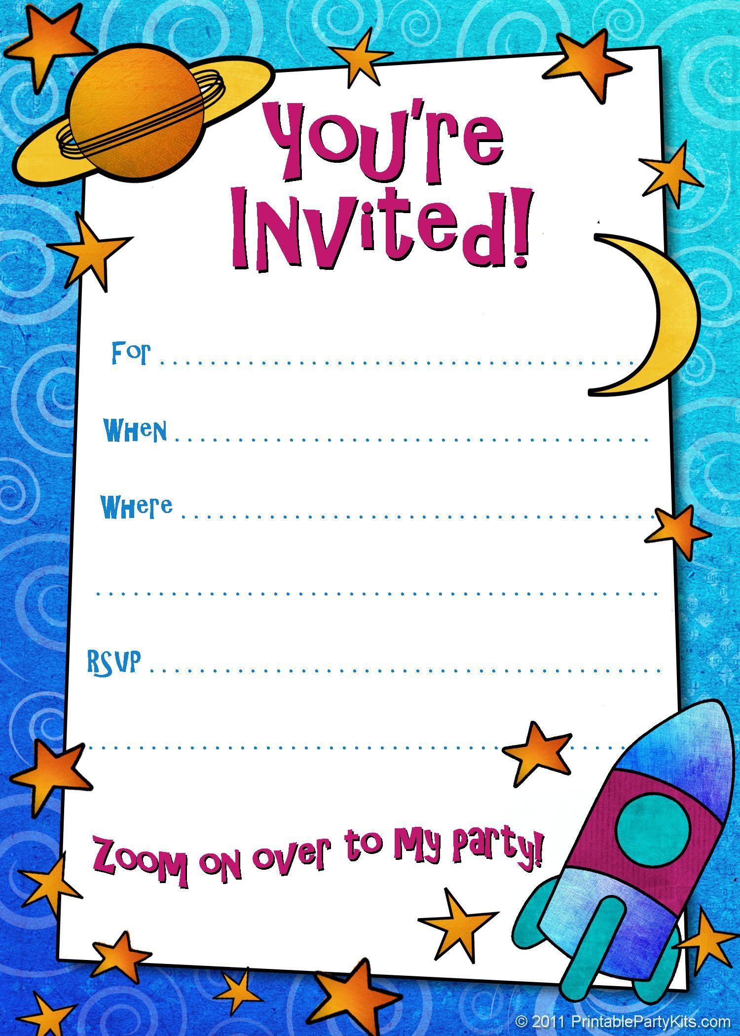 Free Printable Boys Birthday Party Invitations | Birthday Party - Free Printable Surprise Party Invitations