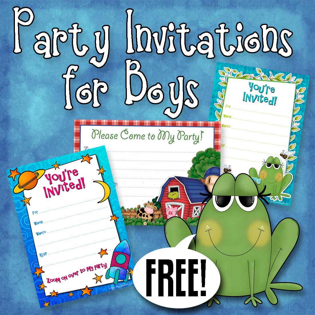 Free Printable Boys Birthday Party Invitations | Party Printables - Free Printable Toddler Birthday Invitations