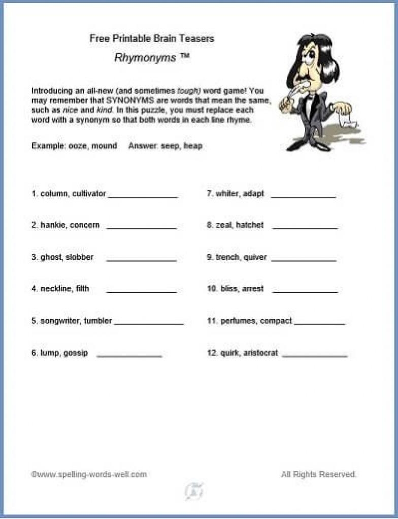 Free Printable Brain Teasers   Brain Games And Teasers   Pinterest - Free Printable Word Winks