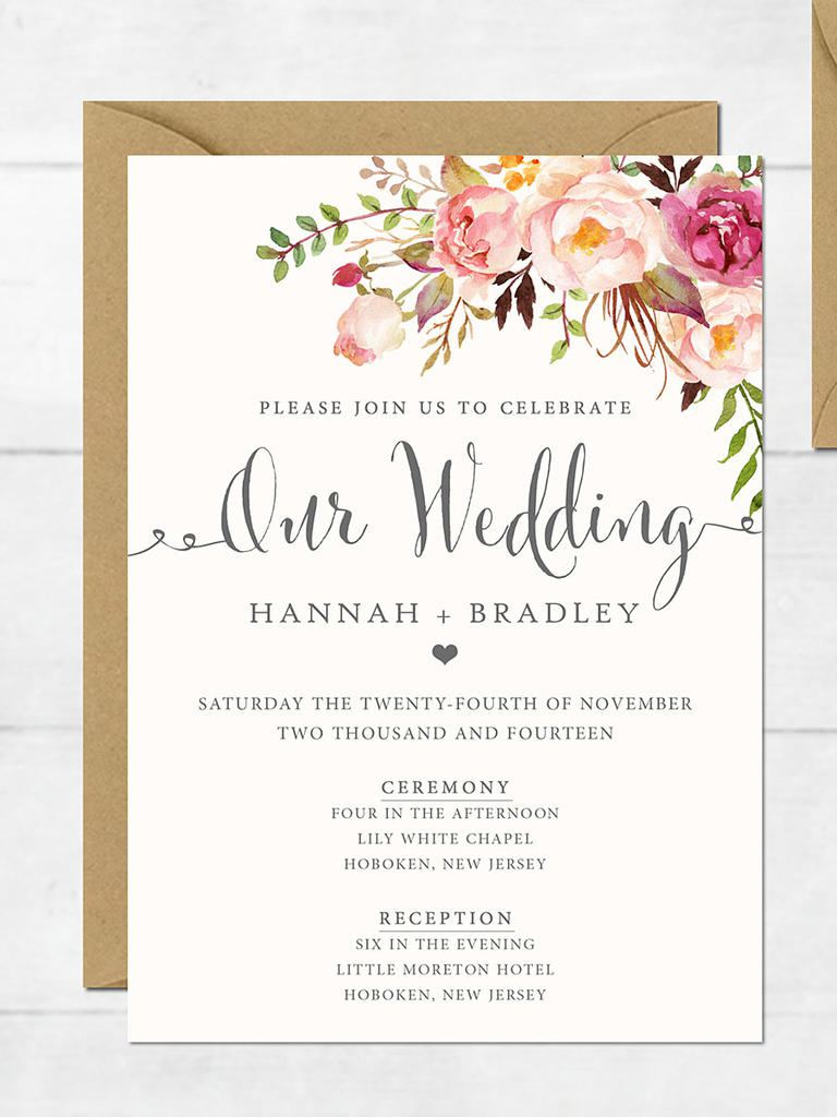 Free Printable Bridal Shower Invitations Templates Free Printable - Free Printable Bridal Shower Invitations