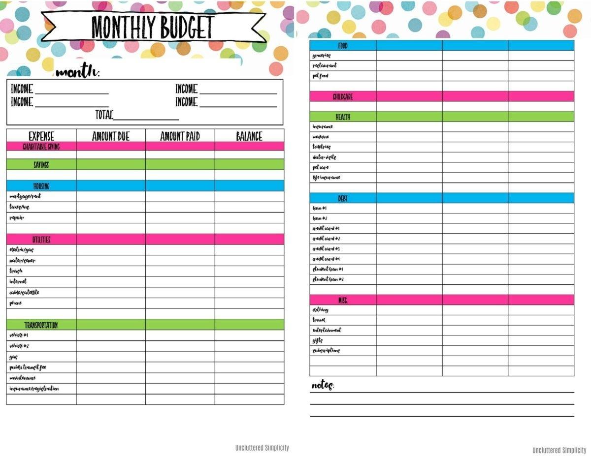 Free Printable Budget Planner | Bestprintable231118 - Free Printable Budget Planner Uk