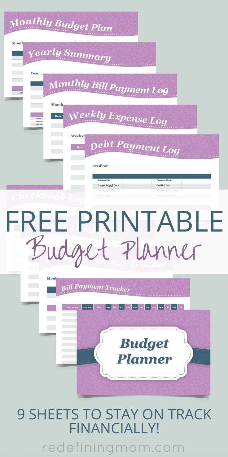 Free Printable Budget Planner | Top Pins From Top Bloggers | Budget - Free Printable Financial Planner 2017