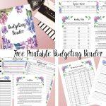 Free Printable Budgeting Binder: 15+ Pages!   Free Printable Budget Binder Worksheets