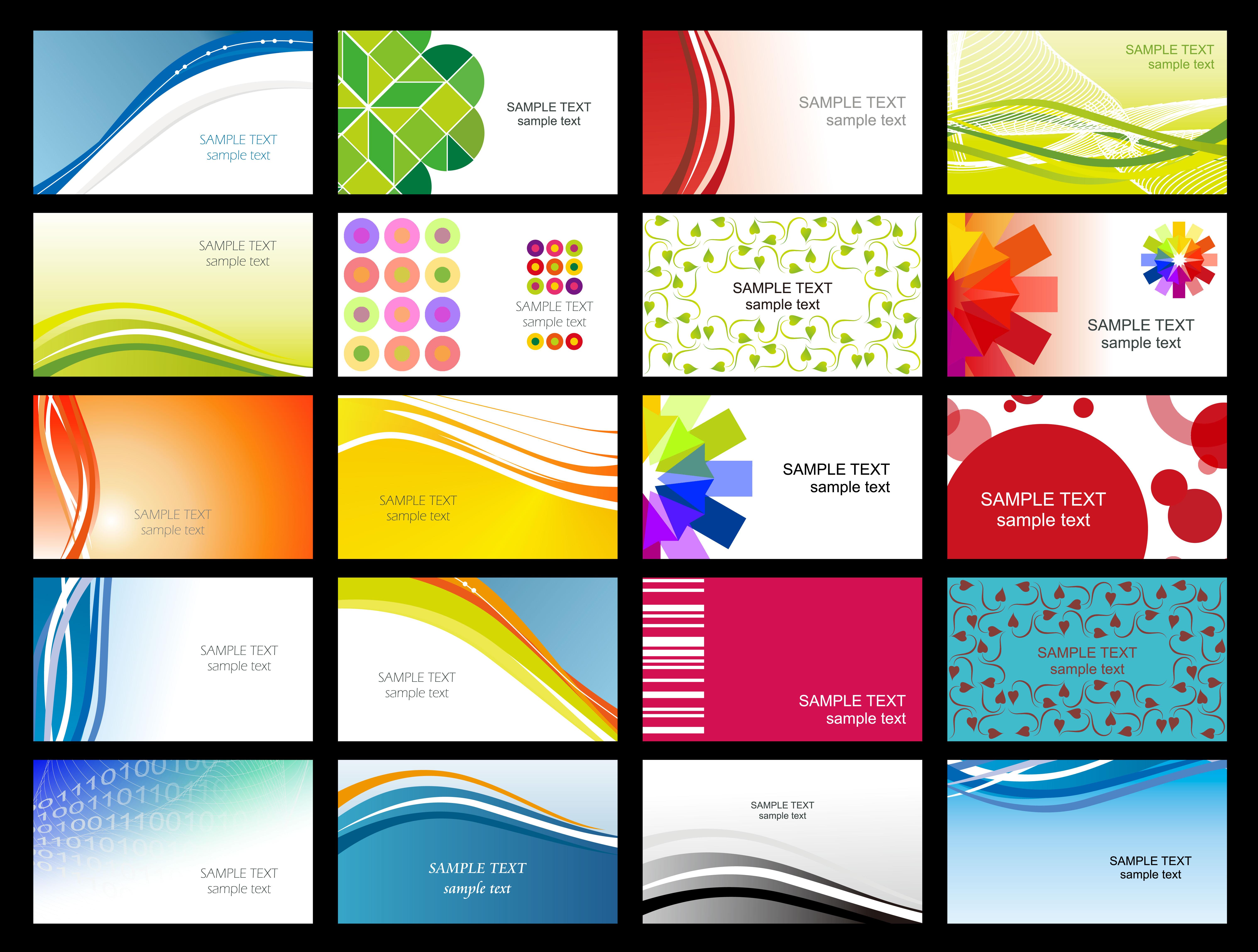 Free Printable Business Card Templates Sample | Get Sniffer - Free Printable Blank Business Cards