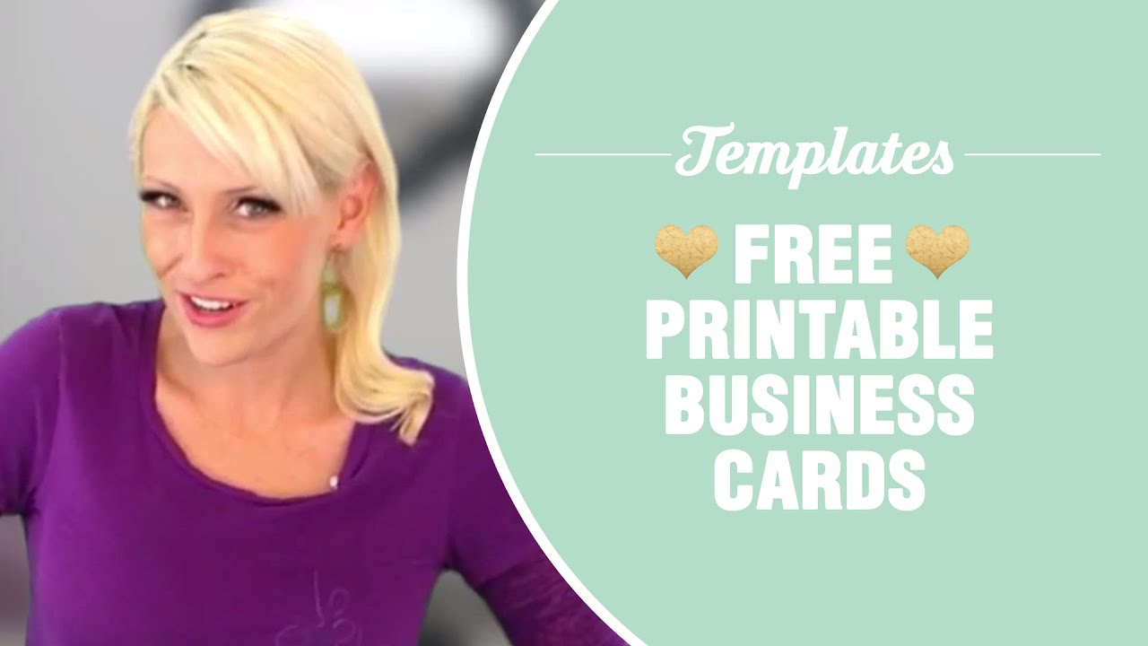 Free Printable Business Cards - Templates Included - Youtube - Free Printable Business Card Templates