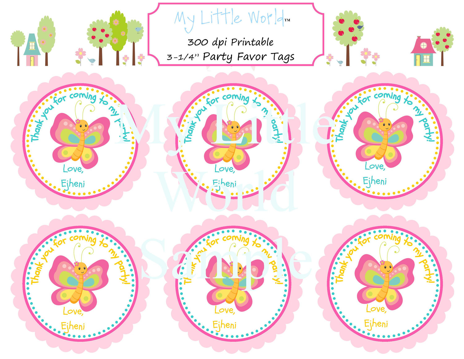Free Printable Butterfly Thank You Tags - 20.6.kaartenstemp.nl • - Party Favor Tags Free Printable