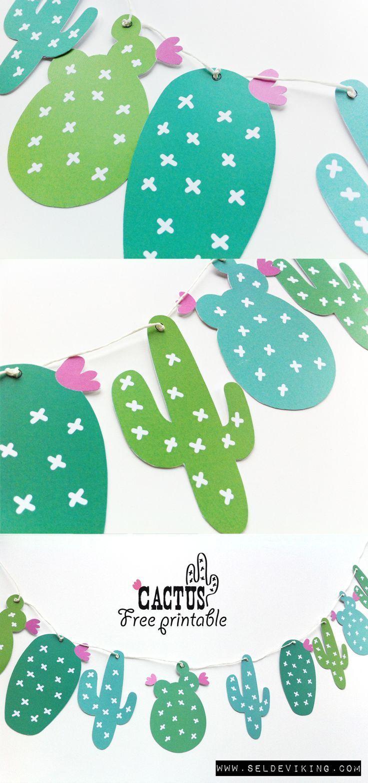 Free Printable Cactus Guirlande | Évèn€Mt | Pinterest | Cactus - Free Printable Cactus